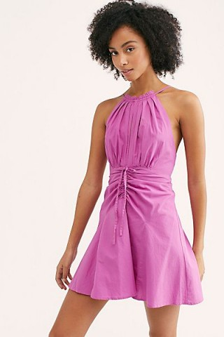 Endless Summer Struttin' Mini Dress in Blooming Orchid – front gathered dresses