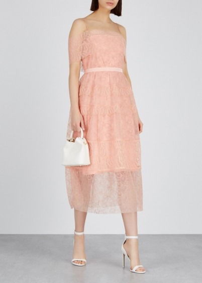 THREE FLOOR Girl Talk embroidered pink tulle dress – feminine summer event outfit
