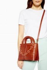 Topshop Tia Crocodile Grab Bag in Orange | croc embossed handbag | affordable & stylish bags