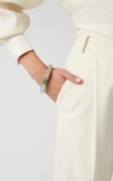 Bottega Veneta Two-Tone Resin Bracelet in Green | colour-block contemporary bangle