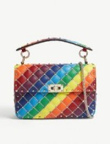 VALENTINO Rockstud Spike rainbow cross-body bag ~ multicoloured handbags