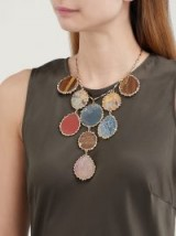 ROSANTICA BY MICHELA PANERO Wallace agate necklace ~ mixed stone statement jewellery