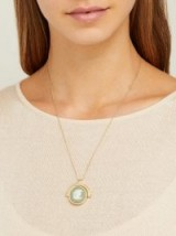 FERIAN Wedgwood green and ivory cameo pendant necklace