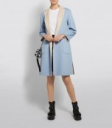 Weekend Max Mara Reversible Belted Coat in Blue ~ two-tone coats