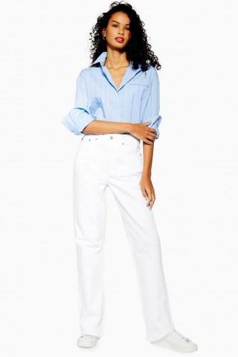Topshop White Dad Jeans in White | rigid denim