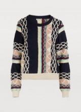 Aalto Crew neck sweater. MULTI PATTERNED JUMPER