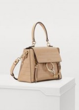 Chloé Faye Day two-way bag. GLOSSY NUDE HANDBAG