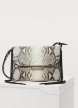 Isabel Marant Sinky New shoulder bag. PYTHON PRINT LEATHER HANDBAG