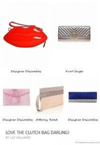 Love the clutch bag darling collage – Atterley Road, Designer Desirables, Kurt Geiger #bags #accessories