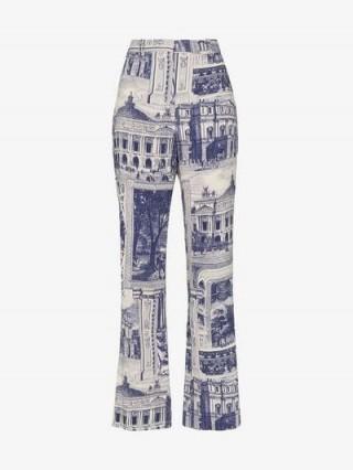 Acne Studios Theatre Print Trousers in blue