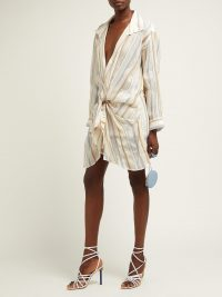 JACQUEMUS Alassio knotted cotton-blend shirt dress | Matches Fashion