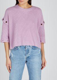 A.L.C. Adams lilac cotton-cashmere blend sweater | drop sleeve jumper