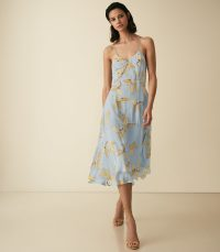 Reiss ALLI FLORAL STRAPPY DRESS ~ feminine and flowing summer dresses
