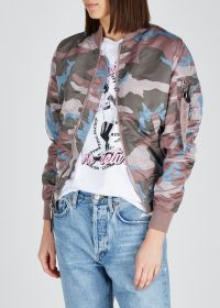 ALPHA INDUSTRIES MA-1 VF camouflage-print bomber jacket in mauve, blue & army-green / camo jackets