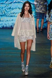 Anna Sui RTW Spring/Summer 2016 New York Fashion Week. NYFW ~ designer clothing ~ runway fashion ~ trends ~ white cut out