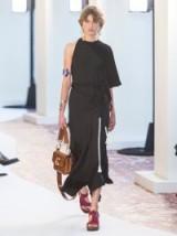 CHLOÉ Asymmetric tasselled midi dress in black ~ chic boho dresses