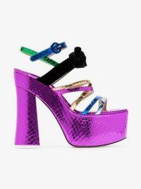 Attico Multicoloured Bibbi Greta Platform Heels / high patent leather platforms / retro sandals