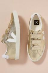 Veja Lock Trainers Gold ~ metallic sneakers ~ sports luxe footwear