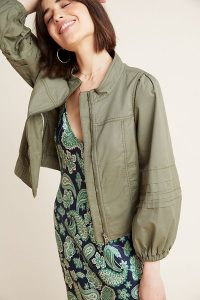 Anthropologie Blousant Bomber Jacket in Neutral