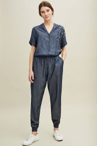 Nooki Deena Star-Embroidered Jumpsuit | blue jumpsuits
