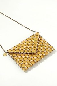 St Xavier Jonquille Beaded Clutch Bag in Yellow