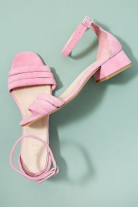 Shoe The Bear Yasmin Suede Heels in Pink | pretty spring sandals
