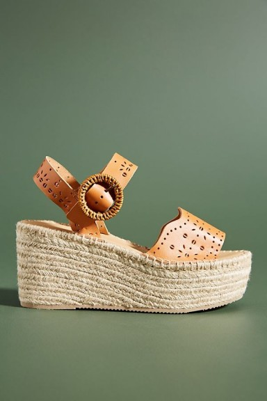 Soludos Sofia Jute-Platform Sandals in Honey | summer platforms