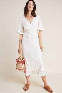 Farm Rio Devore Midi Dress in ivory ~ effortless style for summer
