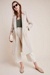 Helene Berman Jacquard Leopard Coat in neutral motif ~ animal print coats