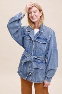 Selected Femme Studios Denim Jacket Medium Blue / belted jackets