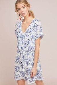 Cloth & Stone Vivian Tunic Dress in Blue | floral summer dresses