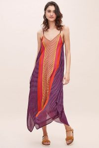Bl-nk Brenda Striped Jumpsuit in Purple Motif | floaty summer fashion