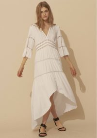 The Dressing Room BA&SH ZABEL DRESS – ECRU