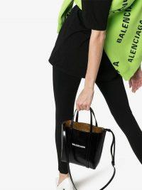Balenciaga Black Everyday Patent Leather XXS Tote / cute LBB / small designer logo bags