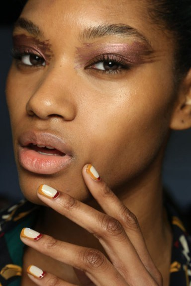 Tracy Reese Fall 2015 runway nail art. Autumn nails – makeup ideas - flipped