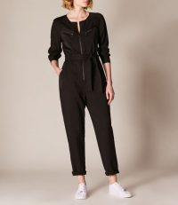 Karen Millen Black Utility Jumpsuit ~ casual day style