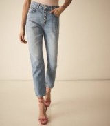REISS MID RISE CROPPED JEANS BLUE ~ casual and stylish