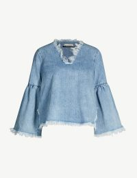 BLANCHE Akido denim blouse in summer blue