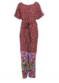 The Dressing Room BLANK AQABA PRINTED JUMPSUIT – RED – loose trouser