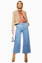 Topshop Bleach Lightweight Crop Jeans | wide leg | cropped hem