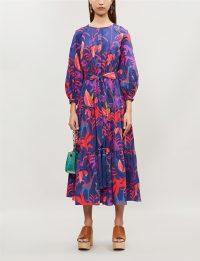 BORGO DE NOR Meret animal kingdom-print cotton dress ~ summer boho-style fashion