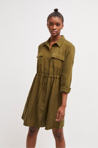 FRENCH CONNECTION BRIELLA LYOCELL SHIRT DRESS Cactus