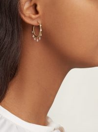 PATCHARAVIPA Butterfly 18kt gold spiralled hoops and briolette diamond earrings ~ beautiful luxe jewellery