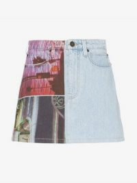 Calvin Klein Jeans Est. 1978 Graphic Print Denim Mini Skirt | printed A-line