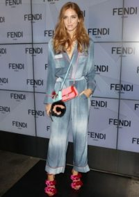 Chiara Ferragni at Fendi S/S 2016. Front Row outfits / celebrity fashion