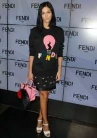 Leigh Lezark at Fendi S/S 2016 MFW. Style icons / celebrity outfits / Front Row celebrities / fashion show outfits