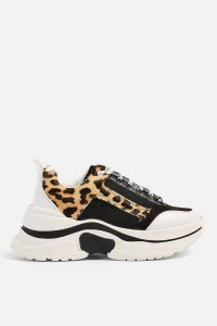 TOPSHOP CELINA Leopard Chunky Trainers / thick sole sneakers