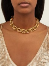 Statement choker ~ RYAN STORER Chain of Tears crystal-embellished necklace