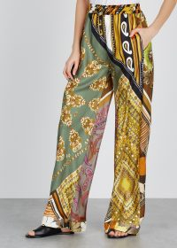 CHLOÉ Printed silk trousers | mixed prints