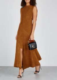 CHLOÉ Rust stretch-knit dress ~ chic knitted dresses